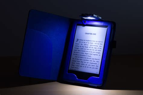 kindle blue light forefront cases 174 leather cover with led light