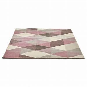 Tapis Beige Salon : tapis design style scandinave rectangulaire geo 230cm x 160cm rose gris beige ~ Teatrodelosmanantiales.com Idées de Décoration