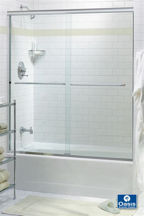 pass tub frameless by pass sliding shower doors oasis shower
