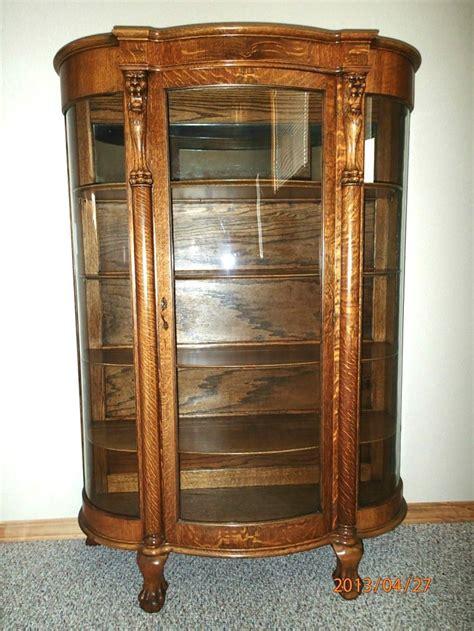 antique china cabinets antique rustic oak glass door kitchen hallway cabinet