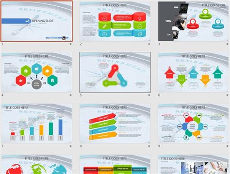 Retirement Powerpoint Template by Free Retirement Powerpoint Template 10122 Sagefox Free