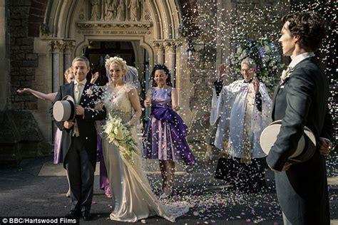 wedding sherlock dr john mary watson attends together morstan episode attending wednesday seen air tv