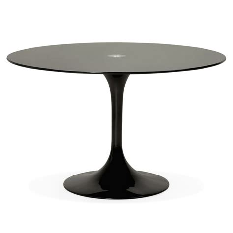 table ronde gamme tic 120 table ronde design marjorie en verre ø 120 cm noir