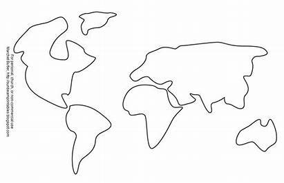 Continents Coloring Pages Template Printable Templates Clipart