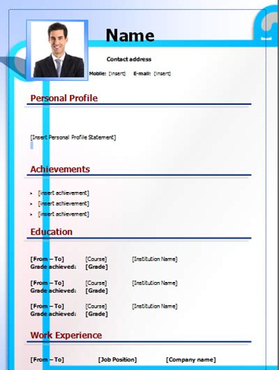 Cv Form Free by Cv Form Template Editable On Word Word Free