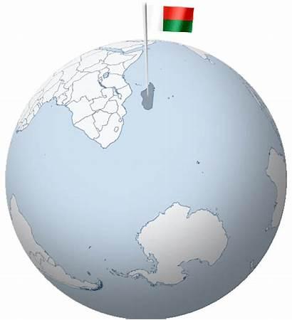 Flag Madagascar Globe Waving Africa Capital Indian