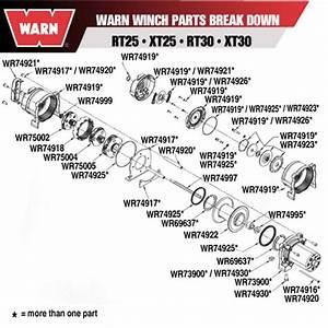 Warn 73900 Warn Winch Motor W  End Housing Xt 25  30