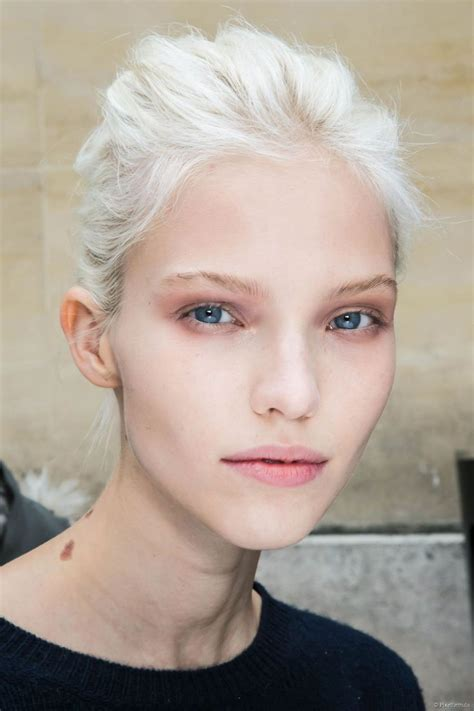 Pale Hair by White Can Look Striking On Pale Skin It