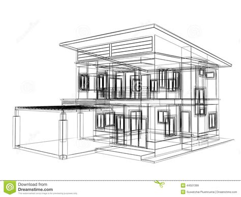 Home Design Drawing by Sketch Design Of House Stock Illustration Illustration Of
