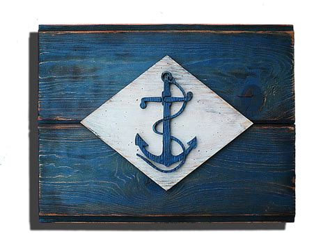 U.s. Navy Home Decor : United States Naval Flag, 3d Vintage From Reclaimed Wood