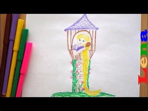 rapunzel prinzessin malen turm zeichnen   draw  princess  castle risuem printsessu