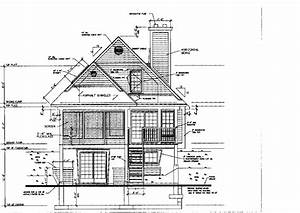 Architectural Drawing Of Pitched Roof House