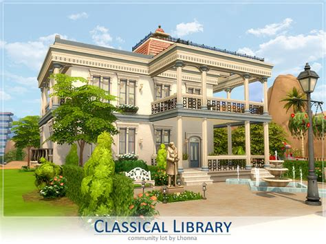 renaissance library lot sims  houses
