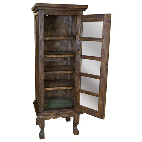 wood and glass curio cabinet rustic curio cabinets bar cabinet