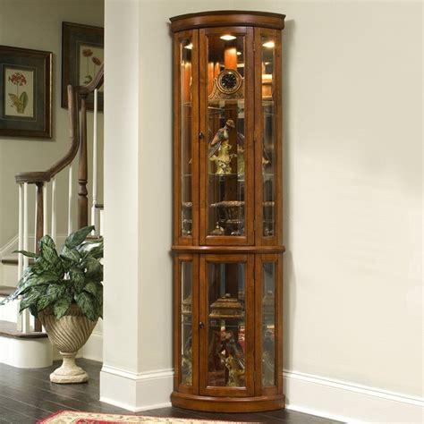 Pulaski Oak Corner Curio Cabinet by Pulaski Furniture 21222 Corner Curio Edwardian Ii Home
