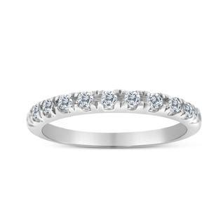 sk inc 1 3ctw diamond wedding band in 10k white gold
