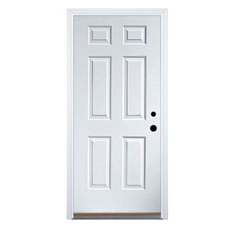 lowes 6 panel door shop therma tru benchmark doors 6 panel insulating