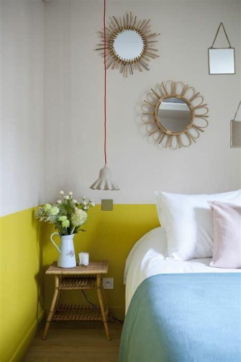 chambre avec mur en nos astuces en photos pour peindre une pièce en deux