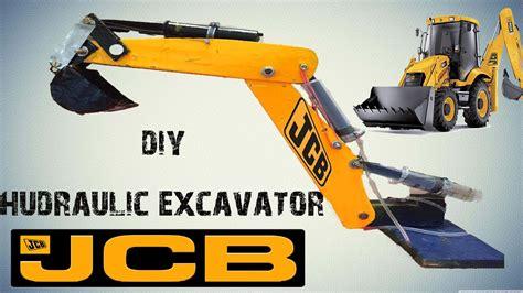 syringe operated hydraulic excavator jcb youtube