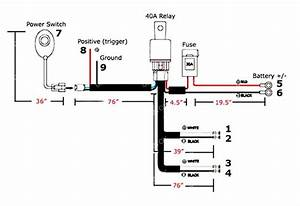 General guide on how to wire relay harness w on off switch for Led light bars as well as led light bar wiring harness kit further led