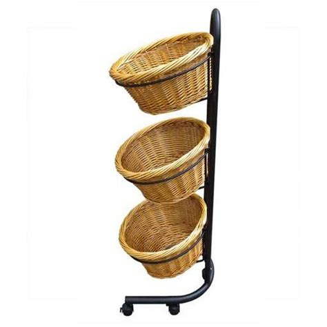 Mobile Display Stands by Wicker Baskets Stand To Hold Baskets Mobile