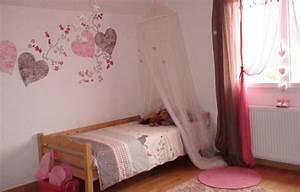 stunning chambre de fille rose ideas design trends 2017 With chambre rose et noir baroque