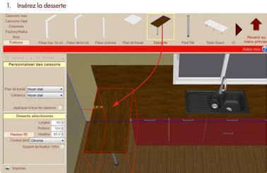 logiciel implantation cuisine créez votre cuisine alinéa avec le logiciel cuisine 3d