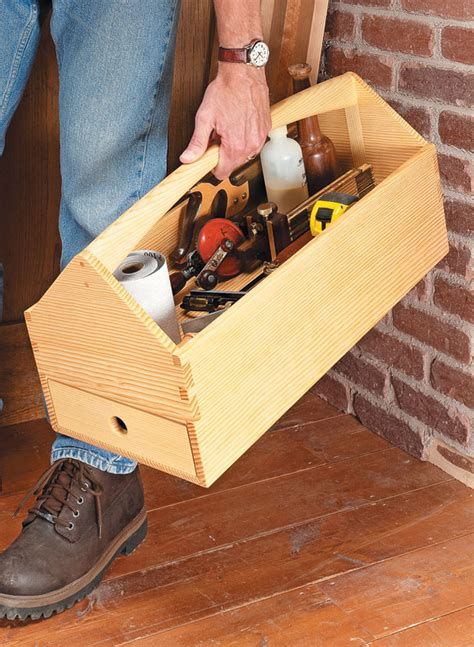 dovetailed tool tote woodworking project woodsmith plans