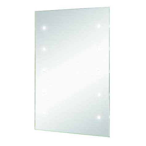 wickes small rectangular led bathroom mirror mm