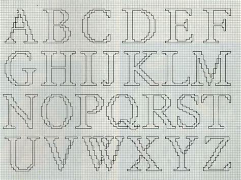 lettere dell alfabeto da ricamare schemi punto croce gratis
