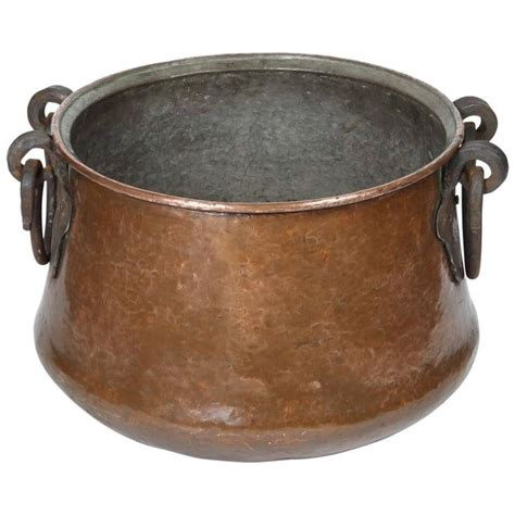 vintage hand forged copper cauldron copper cookware