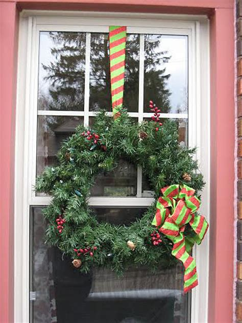 christmas wreaths for windows how to hang wreaths on outside exterior windows
