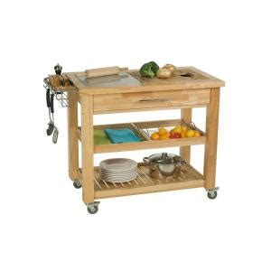 Chris & Chris Pro Chef Natural Kitchen Cart With Chop and