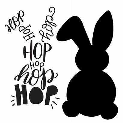 Svg Bunny Easter Cut Typographic Lettered Hand