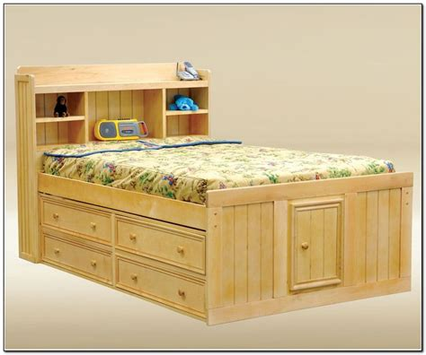 full size captains bed   drawers woodworking