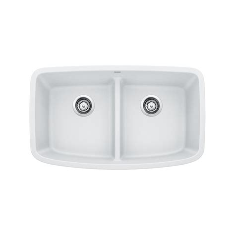 blanco composite kitchen sinks blanco valea undermount granite composite 32 in equal 4775
