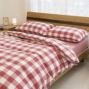 Amazon, Com, Bedding, Sets, 4, Piece, Red, And, White, Grid, Plaid
