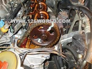 W126 V8 Mercedes Timing Chain   Guide Install