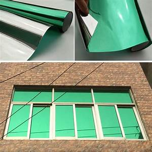 One Way Film : green mirrored reflective one way window film privacy glass tint self adhesive ~ Frokenaadalensverden.com Haus und Dekorationen
