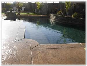 Stamped concrete pool deck ideas decks home decorating for Pool deck ideas made from concrete
