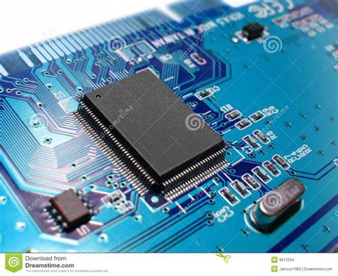 Blue Circuit Board Stock Photo Image Pins Quartz