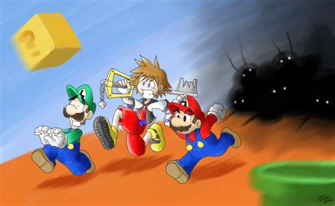 Mario And Sora By Greenmage On Deviantart