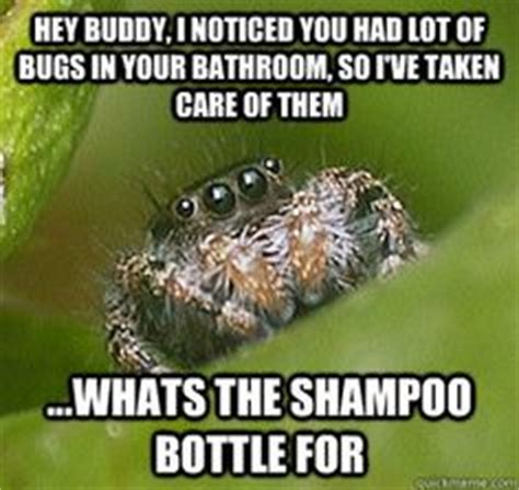 Shower Spider Meme - i m terrified of spiders but maybe its because i