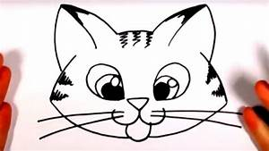 How, To, Draw, A, Cute, Kitten, Face, -, Tabby, Cat, Face, Drawing, Cc