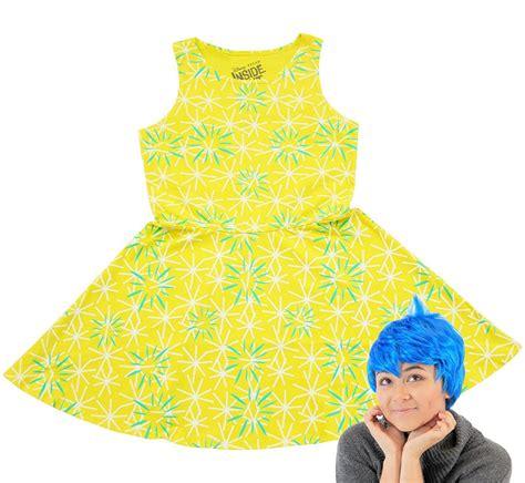 Disney Inside Out Joy Skater Dress and Wig Costume Set