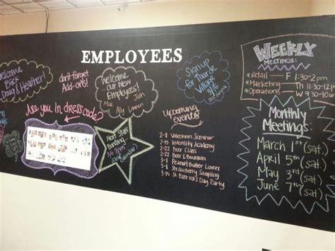 employee chalk board wall diy creativity   finest