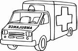 Coloring Ambulance Popular sketch template