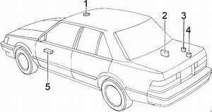 Toyota Cressida  1988 - 1998  - Fuse Box Diagram