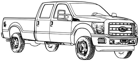 coloring page of truck collections