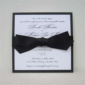 3 looks grace wedding invite with bow american wedding With wedding invitation ribbon tying